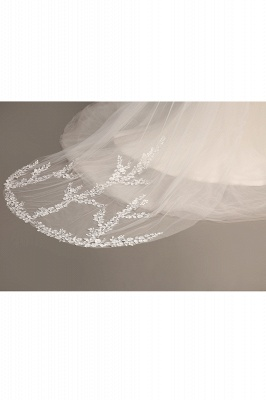 Excellent Lace Tulle Cathedral Wedding Veils | Bridal Veils_7