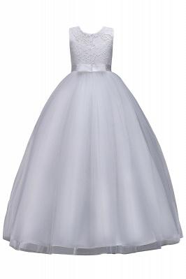 Elegant Jewel Lace Flowergirl Dresses | Bow Sleeveless Children Dresses_3