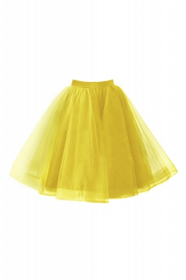 Alluring Tulle Short A-line Skirts   Elastic Women's Skirts_7