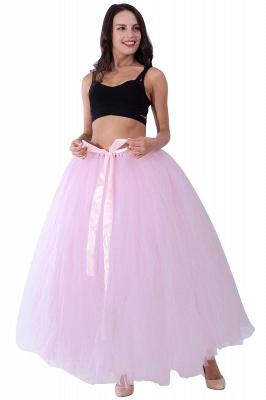 Fascinating Tulle Floor-Length Ball-Gown Skirts   Elastic Women's Skirts_3