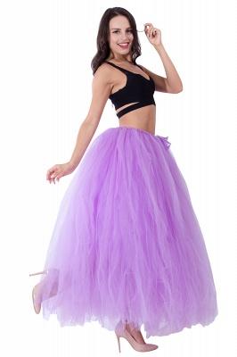 Fascinating Tulle Floor-Length Ball-Gown Skirts   Elastic Women's Skirts_9