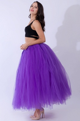 Fascinating Tulle Floor-Length Ball-Gown Skirts | Elastic Women's Skirts_20