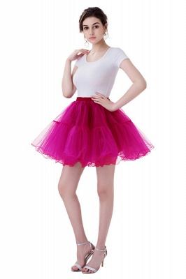 Brilliant Tulle Mini Short A-line Skirts | Elastic Women's Skirts_3