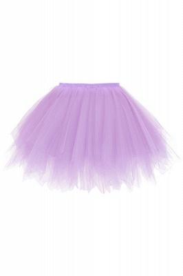 Charming Tulle Short A-line Mini Skirts | Elastic Women's Skirts_15