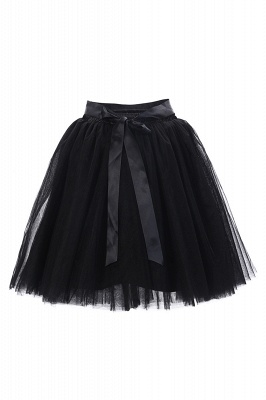Amazing Tulle Short Mini Ball-Gown Skirts | Elastic Women's Skirts_13
