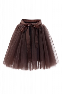 Amazing Tulle Short Mini Ball-Gown Skirts | Elastic Women's Skirts_7