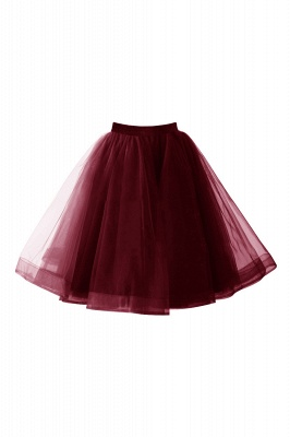 Alluring Tulle Short A-line Skirts   Elastic Women's Skirts_4