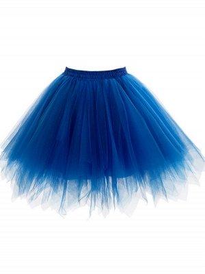 Charming Tulle Short A-line Mini Skirts | Elastic Women's Skirts_9