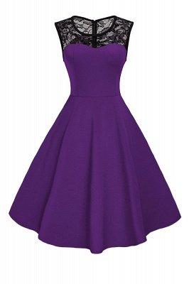 Elegant Jewel Lace Sleeveless Fashion Dresses   Sweetheart Women's Dress_4