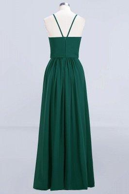 Dark-Green Chiffon A-Line Elegant Spaghetti-Straps Bridesmaid Dress_3