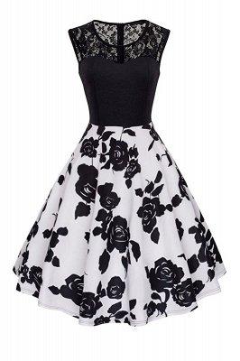 Elegant Jewel Lace Sleeveless Fashion Dresses   Sweetheart Women's Dress_1