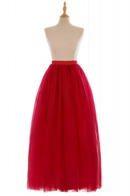 Glamorous A-line Floor-Length Skirt | Elastic Women's Skirts_4