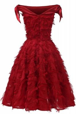 Stunning A-line Artificial Fur Retro Short Party Dress_12