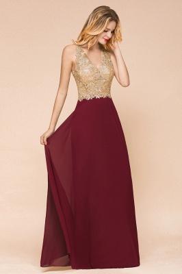 Cheap Chiffon Appliques Long Prom Dress | Affordable Floor Length A-line Evening Dresses_6
