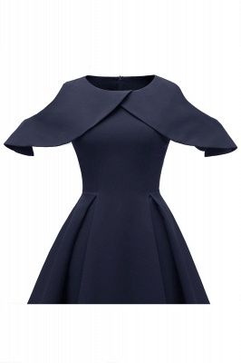 Lovely Scoop neck Half sleeves Front Cross Vintage Short Dresses_11