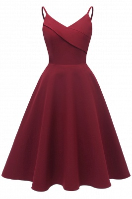 Stunning Spaghetti Straps Sleeveless Princess Vintage Dresses_2