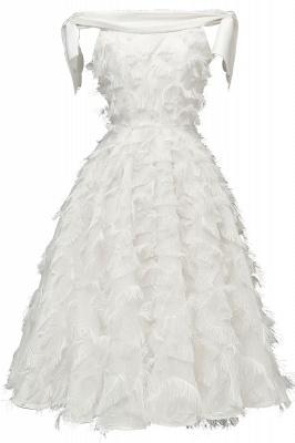 Stunning A-line Artificial Fur Retro Short Party Dress_1