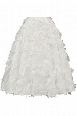 Stylish Spaghetti Straps Artifical Feather Princess Vintage Short Dresses_18