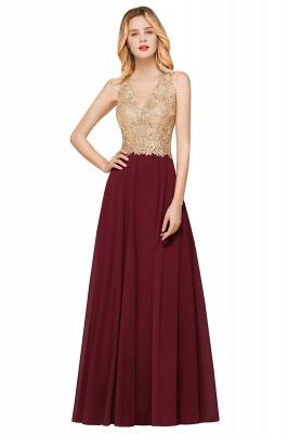 Cheap Chiffon Appliques Long Prom Dress | Affordable Floor Length A-line Evening Dresses_8