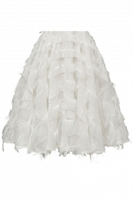 Lovely off-the-shoulder Artifical Feather Princess Vintage Homecoming Dresses_18