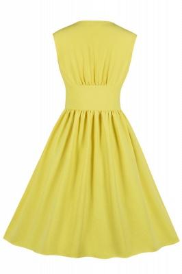 Glorious Jewel Sleeveless A-line Fashion  Dresses | Floral Knee-Length Women's Dress_5
