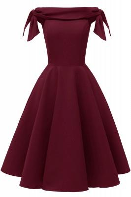 Womens Bateau Burgundy Navy Ruby Vintage Dresses_3