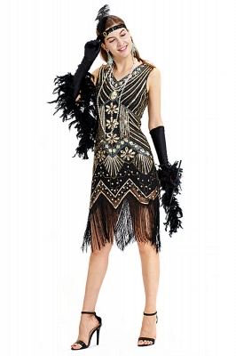 V-neck Sleeveless V-Black Short Cocktail Dresses  Burgundy  Emerald Silver Sequined Dress_10