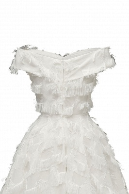 Lovely off-the-shoulder Artifical Feather Princess Vintage Homecoming Dresses_20