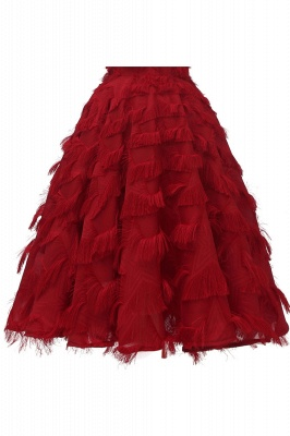 Lovely off-the-shoulder Artifical Feather Princess Vintage Homecoming Dresses_15