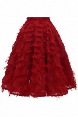 Gorgeous A-line High neck Artifical Feather Vintage Short Dresses_14