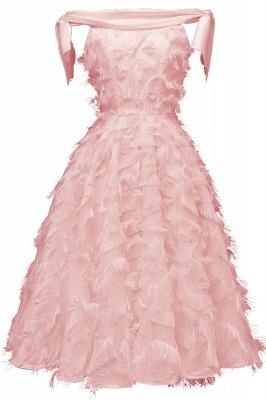 Stunning A-line Artificial Fur Retro Short Party Dress_2