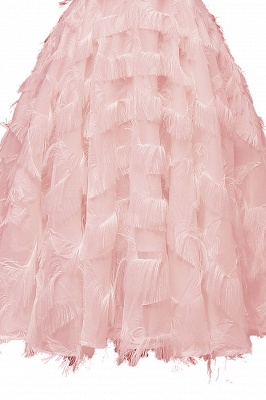 Lovely off-the-shoulder Artifical Feather Princess Vintage Homecoming Dresses_10
