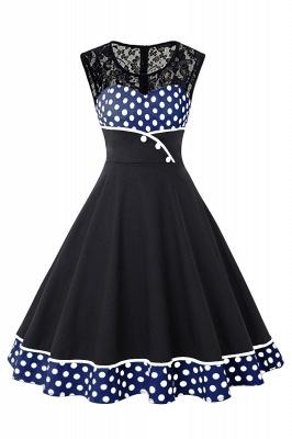 Gorgeous Sleevelwss Jewel Fashion Dresses | Polk-Dot Women's Dresses_7