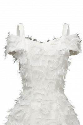 Artificial Fur Cap Sleeve Princess Short Homecoming Dress_18
