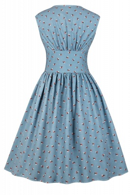 Glorious Jewel Sleeveless A-line Fashion  Dresses | Floral Knee-Length Women's Dress_22