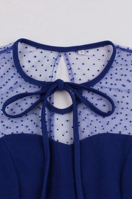 Elegant Round Neck Lace Short Sleeves Fashion Beer Dresses | A-Line Knee-Length Women's Dress_12
