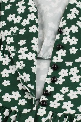 Glorious Jewel Sleeveless A-line Fashion  Dresses | Floral Knee-Length Women's Dress_20