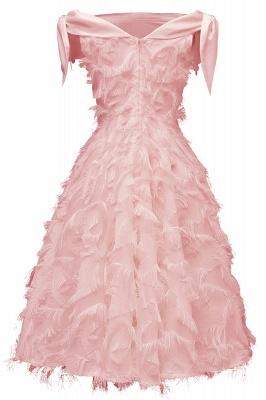Stunning A-line Artificial Fur Retro Short Party Dress_8