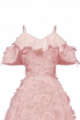 Stylish Spaghetti Straps Artifical Feather Princess Vintage Short Dresses_9