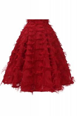 Artificial Fur Cap Sleeve Princess Short Homecoming Dress_15