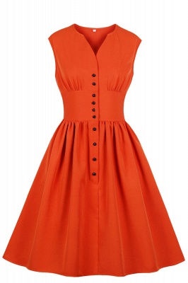 Glorious Jewel Sleeveless A-line Fashion  Dresses | Floral Knee-Length Women's Dress_3