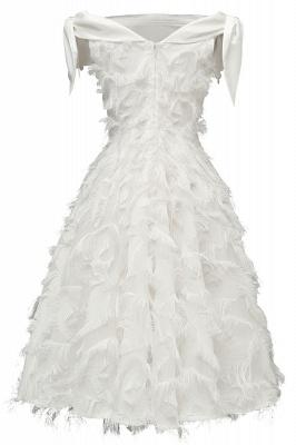 Stunning A-line Artificial Fur Retro Short Party Dress_16