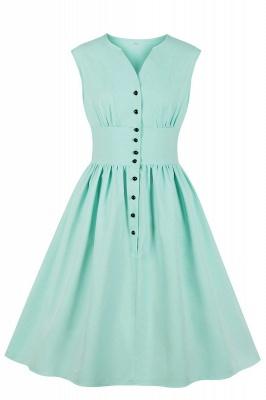 Glorious Jewel Sleeveless A-line Fashion  Dresses | Floral Knee-Length Women's Dress_6