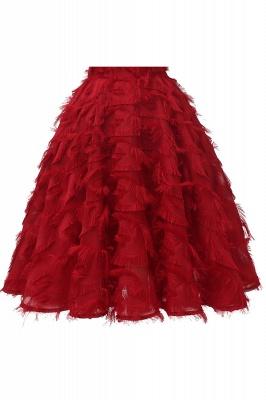 Stunning A-line Artificial Fur Retro Short Party Dress_15