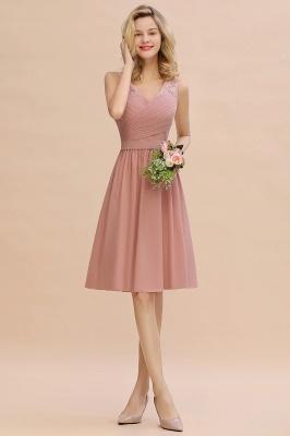 Cheap A-line Chiffon Ruffle Bridesmaid Dress Sleeveless Lace Homecoming Dress in Stock_13