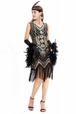 V-neck Sleeveless V-Black Short Cocktail Dresses  Burgundy  Emerald Silver Sequined Dress_11