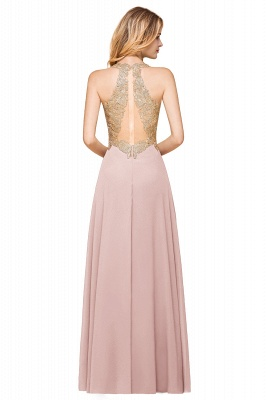 Cheap Chiffon Appliques Long Prom Dress | Affordable Floor Length A-line Evening Dresses_18