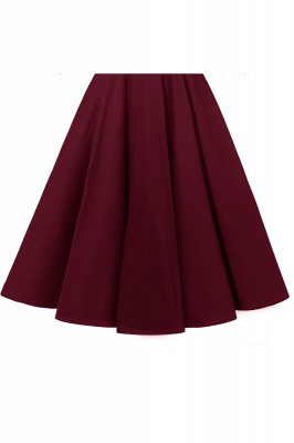 Stunning A-line Retro Scoop Neck V-back Ruffles Burgundy Lace Party Dresses_17