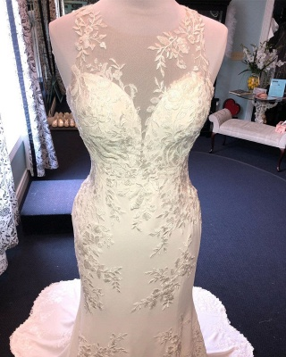 Exquisite Mermaid Wedding Dress |  Lace Open Back Bridal Dress_3