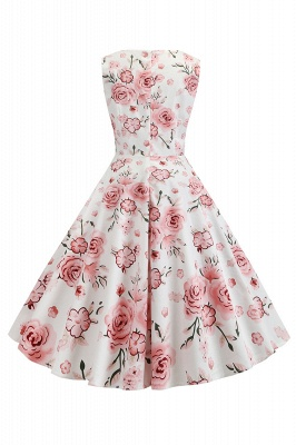 Wonderful Scoop Sleeveless A-line Zipper Fashion Dresses | Knee-Length Women's Dresses_16